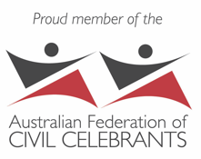 Penelope Reynolds is a proud member of the Australian Federation of Civil Celebrants